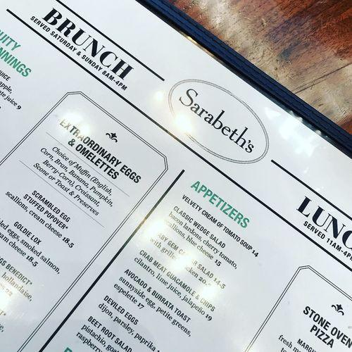 Sarabeths Brunch Brunch Around The World NYC Brunchmenu Breakfast Text Indoors  Paper No People Close-up Day