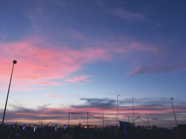 Sky Sunset Colors Pink Purple Blue White School Concert