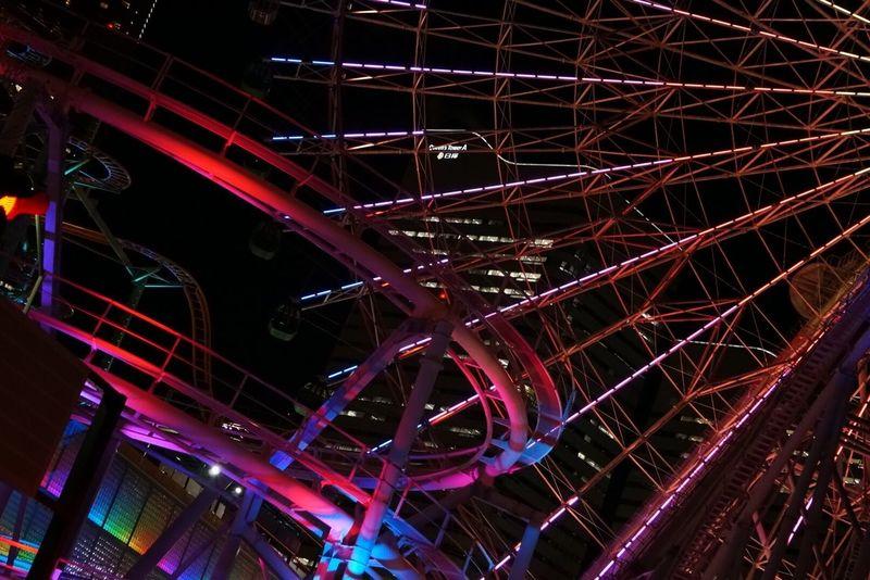 Observation Wheel Ferris Wheel Lighting Rainbow