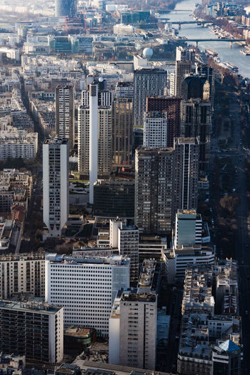 Aerial View Architecture Building Exterior City Cityscape Downtown Downtown District France Modern Outdoors Paris Skyline Skyscraper Tower Travel Destinations