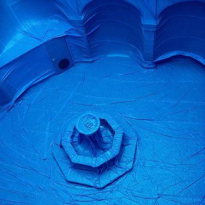 Penique from the above, Querétaro #COF2011 Azul Cloister Claustro Artinstallation Peniqueproductions Cutoutfest Elclaustro Penique Air Cof2011 Art Cof11 Blue BIG Mexico Arte Querétaro Inflatable