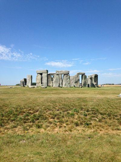Stonehenge against blue sky