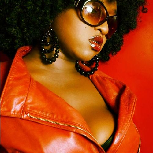 Red Lips Afro Sunglasses Red Leather Jacket Attitude Check This Out That's Me Faces Of EyeEm EyeEm