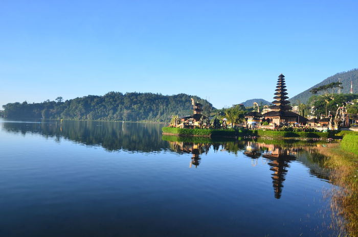 Agus_harianto_photography Agushariantophotography Architecture Blue Day Lake Landscape Nature No People Outdoors Reflection Scenics Sky Tourism Travel Travel Destinations Tree Ulun Danu Temple Vacations Water