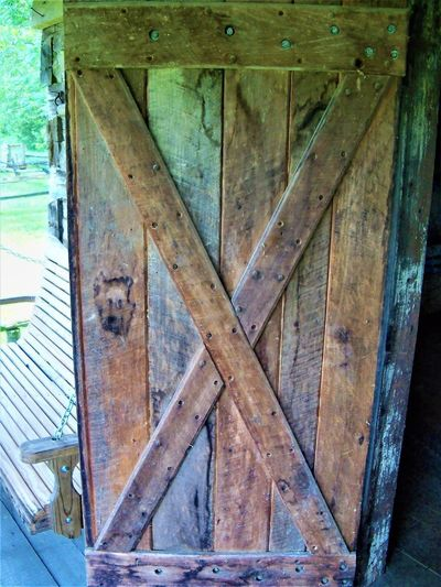Cabin Door Doors Indiana Wood Architecture Building Built Structure Cabin Close-up Day Door Doorway Entrance History Metal No People Old Outdoors Pattern Protection Safety Security Swing Wood Wood - Material Wooden