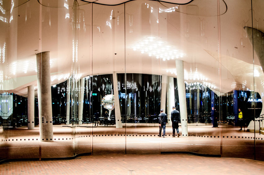 Elbphilharmonie Architecture Modern Night Illuminated Window Building Exterior Built Structure Indoors  Arts Culture And Entertainment Architecture People Day Carousel Elbe Elbe River Elbphilharmony Elbphilharmonie Plaza