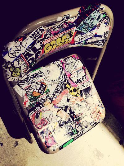 Graffiti Art Lightinthedark Graffittichair Zumiez LoveOfArt Checkthisout OpenEdit Coolin' EyeEm Gallery