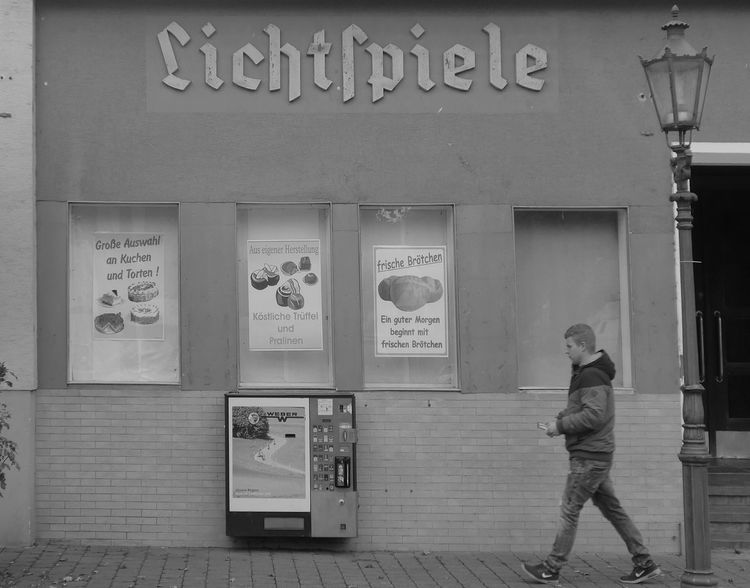 Ancient cinema Streetphotography Streetscene One Person Cinema Cinemaphotography Black & White Photography Monochrome Photograhy Odenwald