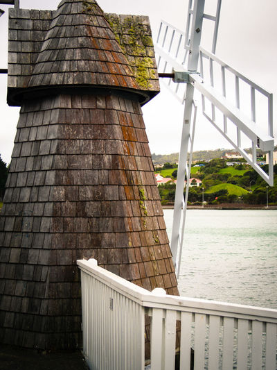 Windmill by the lagoon Aotea Lagoon Built Structure Lagoon Man Made Structure No People Outdoors Windmill