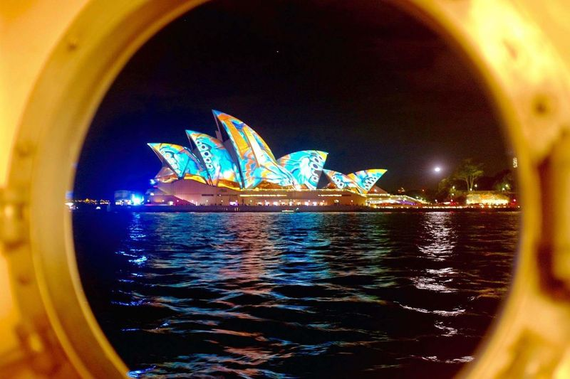 Arts Culture And Entertainment Night Illuminated Cityscape Architecture No People Outdoors Sky Sydney Sydney Vivid Festival Life Onboard Sydney Opera House