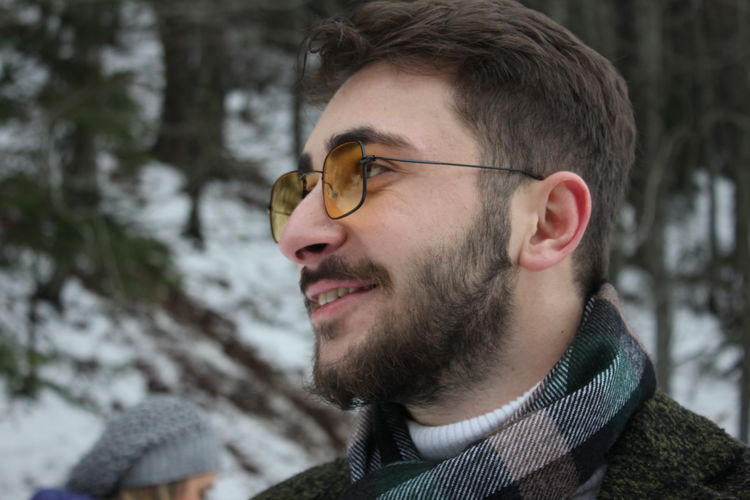 Headshot Portrait Winter One Person Young Men Cold Temperature Young Adult Real People Glasses Looking Looking Away Focus On Foreground Clothing Warm Clothing Eyeglasses  Men Outdoors Leisure Activity EyeEmNewHere