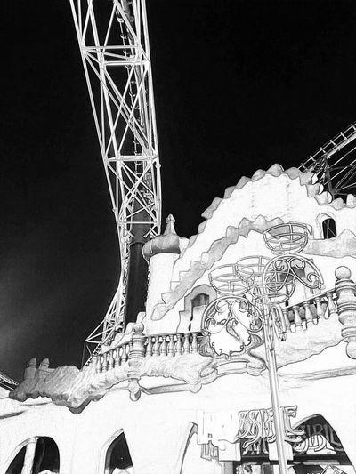 Blackpool Roller Coaster Blackandwhite