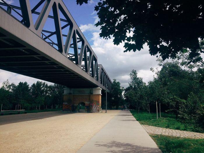 Surface level of bridge