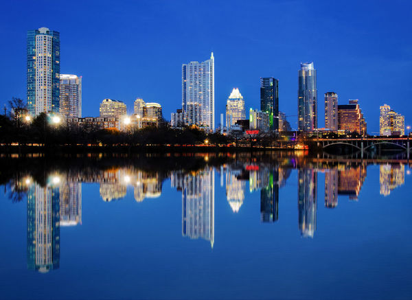 Blue hour skyline of Austin Texas, USA. Austin Austin Texas Austin, TX Blue Hour Blue Hour Cityscape Capital Cities  City City Lights City Reflection Cityscapes Night Night Lights Nightphotography Reflection Skyline Skyscrapers Texas Travel Travel Photography Urban USA USA Photos USAtrip Water Water Reflections