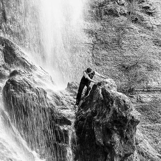 Sony W30 Blackandwhite Monochrome Cataract Waterfall Montain  Landscape Iran Mashad
