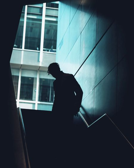 Real People One Person Built Structure Architecture Lifestyles Silhouette Building Exterior Low Angle View Men