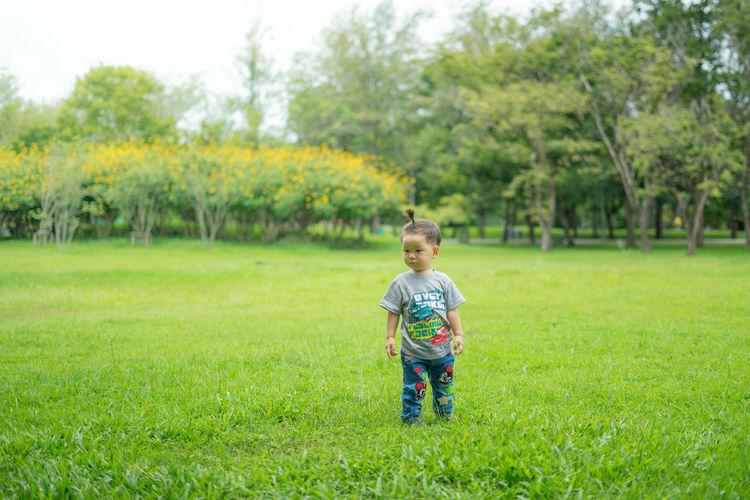 A boy standing