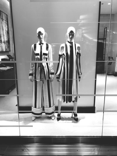 Shop in Contrast Visual Merchandise Visual Merchandising Style Fashion Lines Nordstrom Shopping Mall Shopping ♡ Manekin Mannequin Full Length Day Standing Men Indoors  Real People Love Yourself People