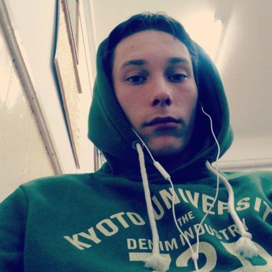 Balintcristian School Average Instagram green hoodie music bored