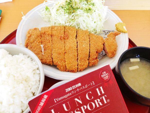 ロースとんかつ定食。ランパスで900円→500円♪ IPhoneography Lunch Passport