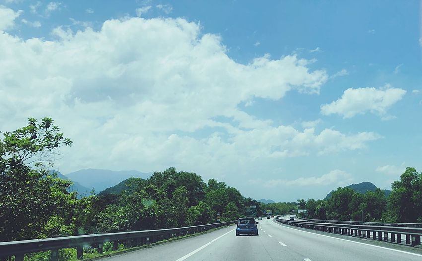 Sunny day, #Plus #OffToKL #Malaysia #KL Road Cloud - Sky Sky Tree The Way Forward Mountain Land Vehicle