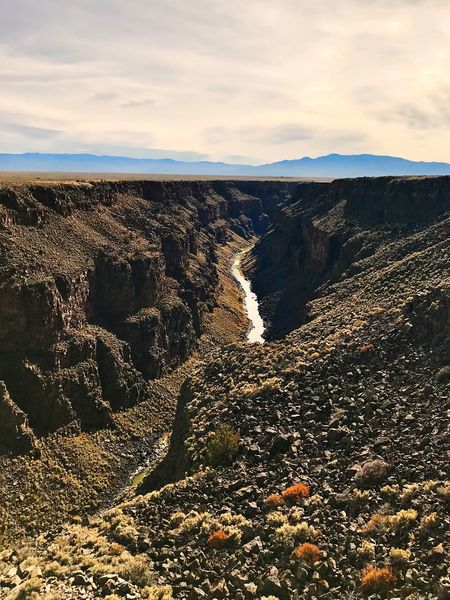 Rio Grande 🇺🇸 Gorge River Nature Sky Beauty In Nature Landscape Cloud - Sky Tranquil Scene Scenics Outdoors Tranquility No People Physical Geography Mountain Day