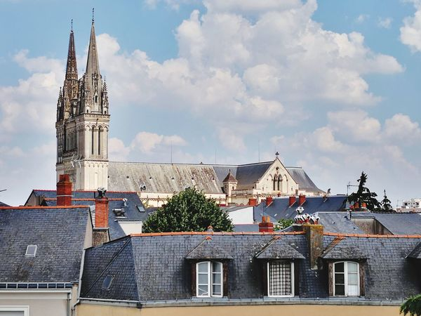 Saint Maurice D'Angers. Travel Destinations Angers, France Cityscape EyeEm Selects City Cityscape Sky Architecture Building Exterior Built Structure Cloud - Sky Calm Scenics Idyllic Tranquil Scene Place Of Worship Office Building Bell Tower - Tower Historic