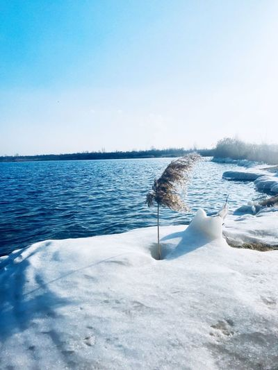 Water Beauty In Nature Nature Cold Temperature Winter Scenics - Nature Sky