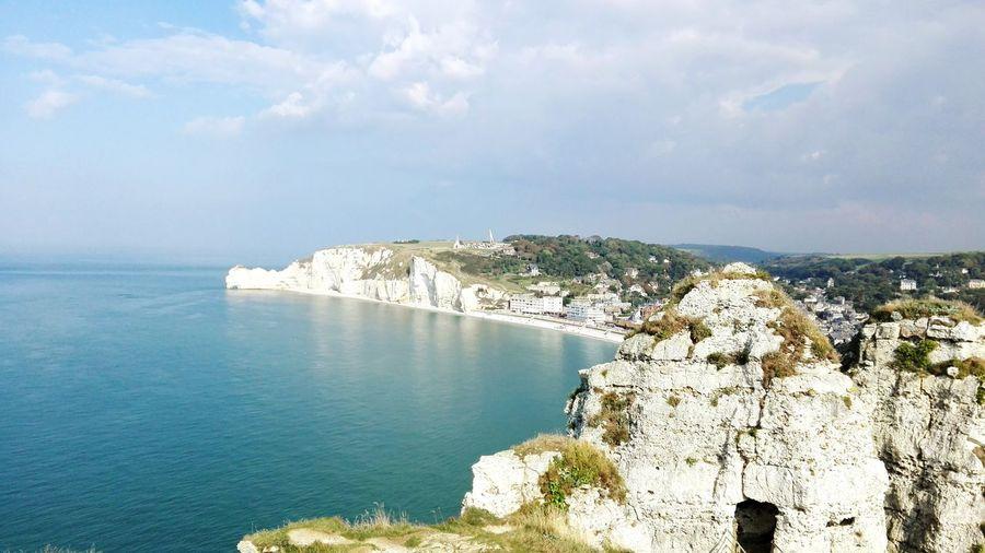 Etretat Cliffs Landscape Normandie, France