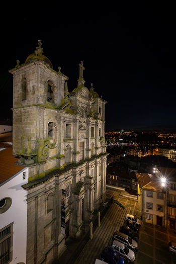 Grilos Church at Porto, Portugal Building Exterior Architecture Built Structure Night Building City Illuminated Place Of Worship Sky Religion Belief Spirituality No People History The Past Travel Destinations Outdoors Porto Europe Portugal Travel Tourism Tourist Attraction  Tourist Destination