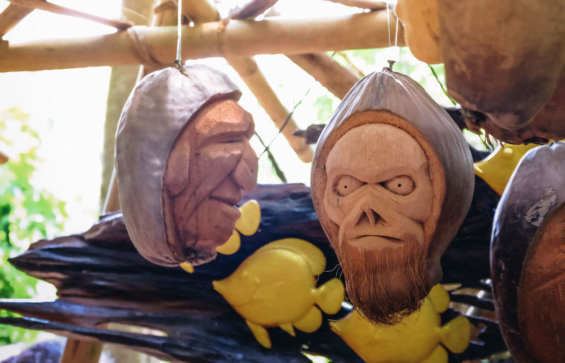 Coconut Art Art And Craft Carved Carved Wood Close-up Creativity Focus On Foreground Handmade No People Selective Focus Toy Wood - Material