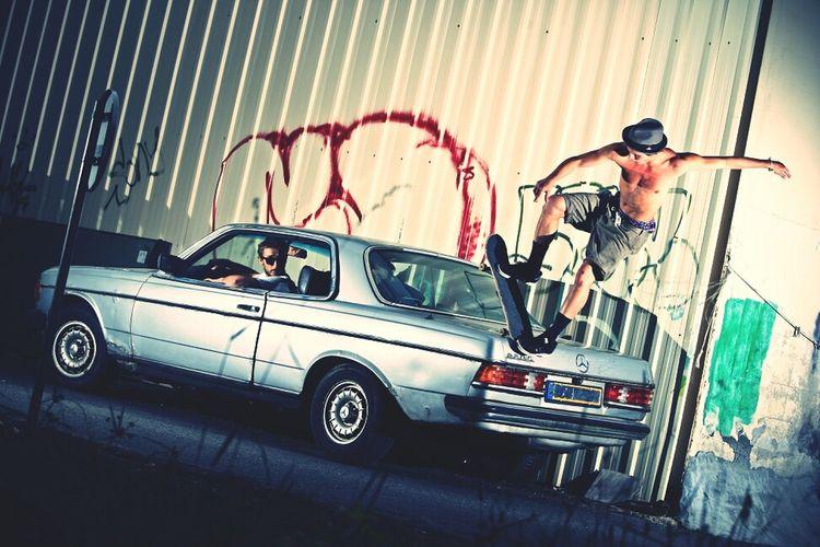 Hanging Out Skateboarding France Taking Photos Vintage Cars Rekiem Skateboards Anthony Boudard Backside Blunt Slide