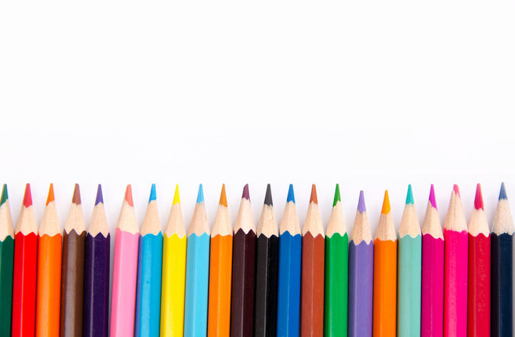 Pencils colorful set, wooden colored pencils isolated on white background, copy space Creativity Graphic Isolated Pencils Red Art And Craft Collection Colored Pencil Colorful Copy Space Craft Crayon Creativity Drawing Frame In A Row Large Group Of Objects Multi Colored Pencil Row Sharp Still Life Studio Shot Variation White Background