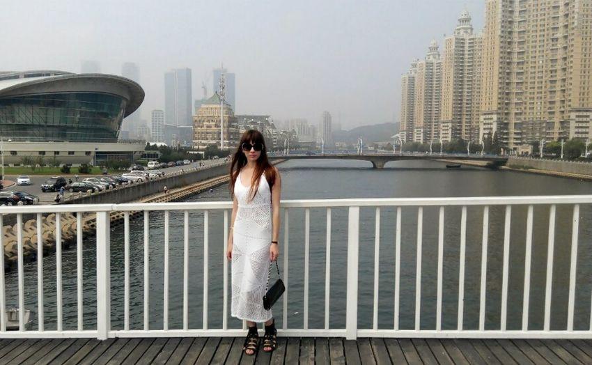 Ladyinwhite Beautiful View People Xinghai ASIA China Travelling In Dalian China, Dalian City View  Stylish