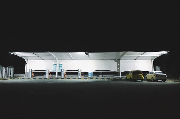Copy Space Transportation Built Structure Car Architecture Mode Of Transport No People Illuminated Night Building Exterior Clear Sky Outdoors Parking Garage Sky The Week On EyeEm
