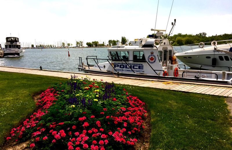 DRPS Police Boat Moored at Whitby Harbour on Lake Ontario — IPhoneography Durham Region Whitby Fresh Air