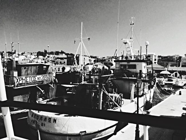 Port Boats and Sea in Salamina Greece