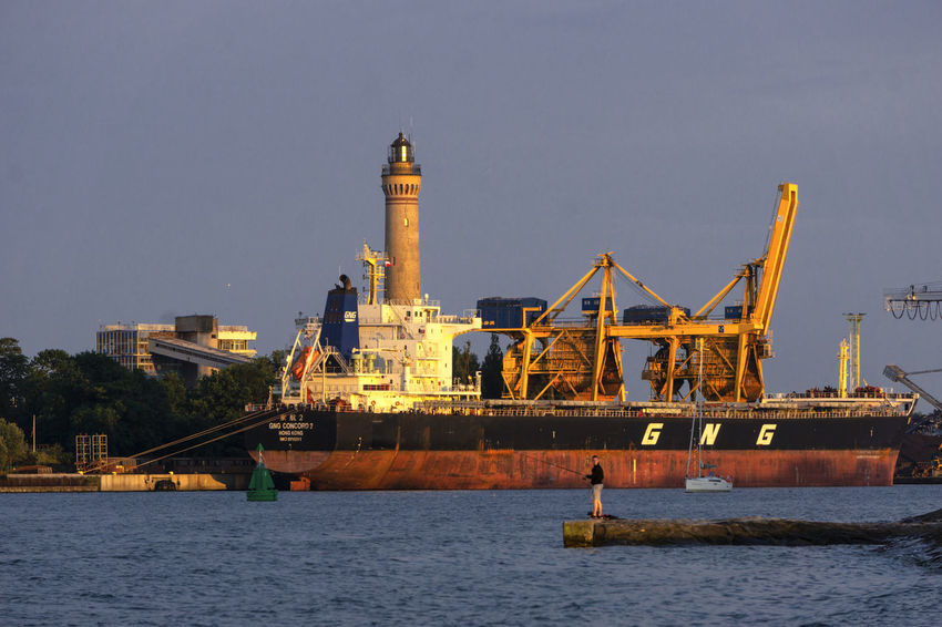 Lighthouse Architecture Built Structure Business Freight Transportation Industry Machinery Mode Of Transportation Nautical Vessel No People Sea Transportation Water Waterfront