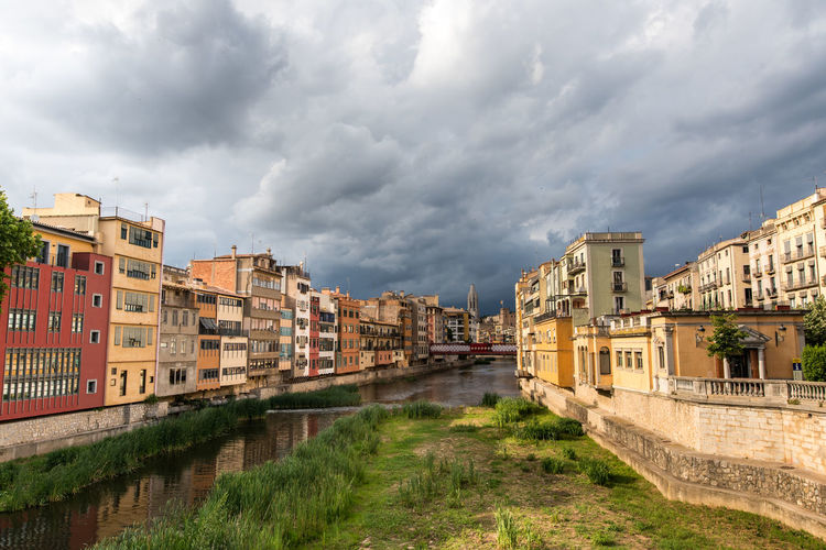 Architecture Building Exterior Built Structure Catalonia Catalunya City Cityscape Cloud - Sky Clouds And Sky Day Girona No People Outdoors Residential Building River View Sky Streetview An Eye For Travel