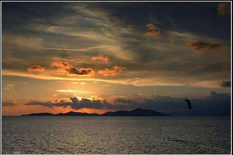 Sea Landscape Windsurfing Bodrum, Turkey