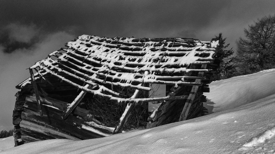 Crooked hut, snowcovered Nails Abandoned Abandoned Buildings Architecture Battens Bnw_echoes_of_the_past Bnw_friday_eyeemchallenge Building Exterior Built Structure Cloud - Sky Cold Temperature Crooked Day Hut Low Angle View Nature No People Outdoors Rotten Sky Snow Snowcovered Winter The Traveler - 2018 EyeEm Awards