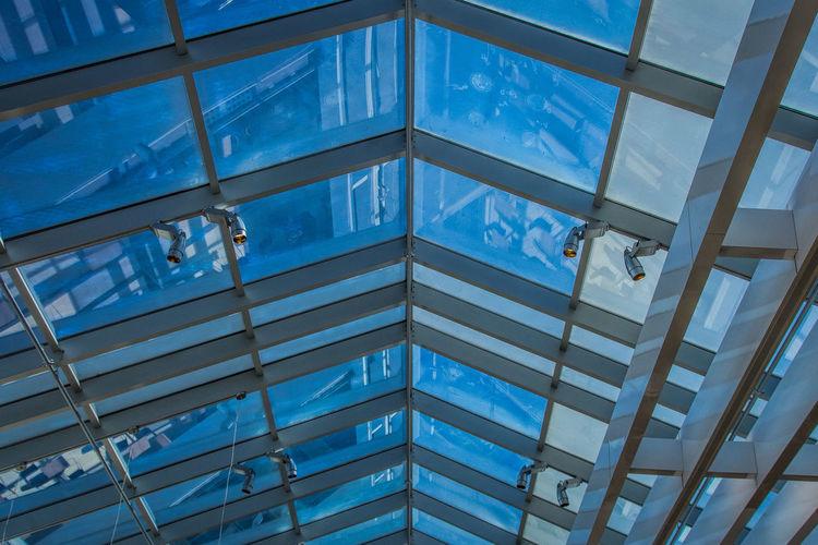 Ceiling Skylight Blue Mall Window Windows The Week On Eyem EyeEm Best Shots Showcase: January Angles And Lines Fine Art Photography