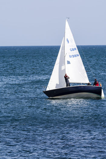 Beauty In Nature Blue Blue Wave Boat Calm Canvas Clear Sky Cornwall Falmouth Horizon Over Water Mode Of Transport Nature Nautical Vessel Ocean Regatta Rippled Sailboat Sailing Scenics Sea Tranquil Scene Tranquility Transportation Water Waterfront