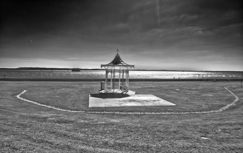 Southsea Bandstand HDR B&W Southsea At Southsea Beach Bandstand Portsmouth HDR B&w