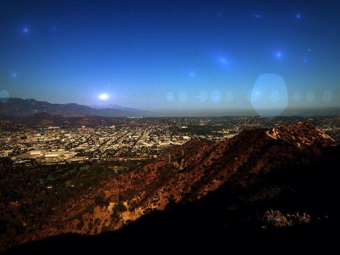 Science Fiction Star Filled Sky Landscape Alien Sky