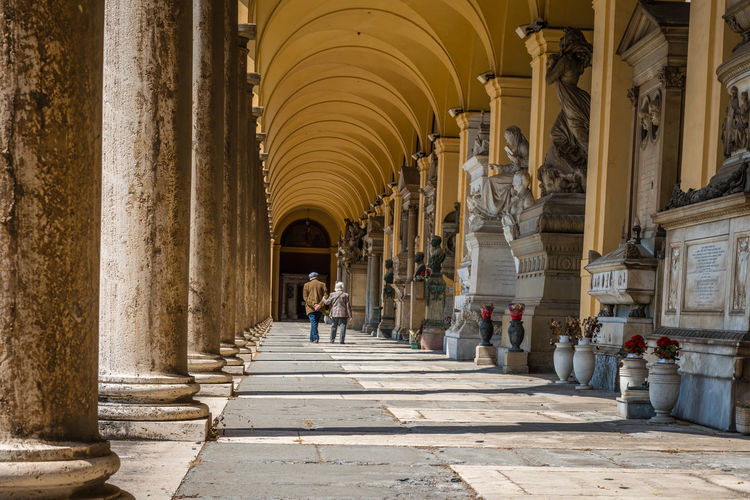 Arcade Arch Architectural Column Architectural Feature Architecture Built Structure Church Colonnade Column Day Façade Group Of People History In A Row Indoors  Person Place Of Worship Religion Spirituality The Past The Way Forward