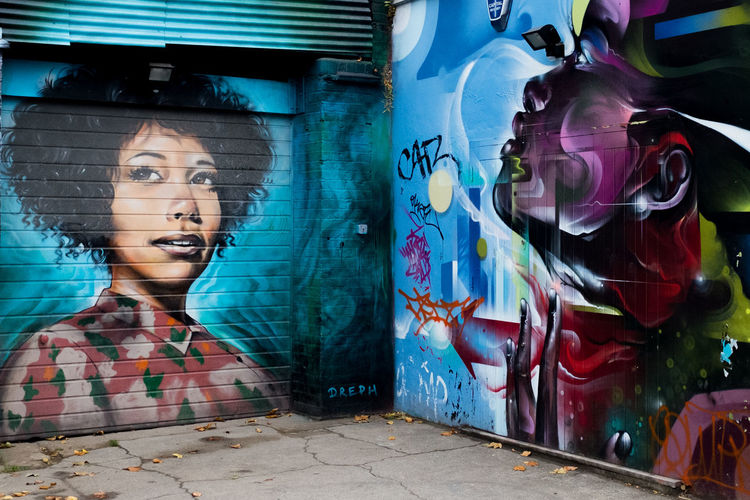London Shoreditch Architecture Art And Craft Building Exterior Built Structure Close-up Creativity Day Dreph Graffiti Human Representation One Person Outdoors People Real People Street Art Street Photography Streetart Streetphotography Young Adult Young Women