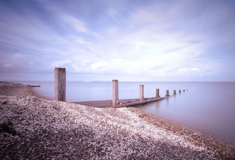 Kent Coast Calm Coast Coastline Composition Connection Horizon Over Water Jetty Kent Leading Long Ocean Outdoors Perspective Pier Railing Scenics Sea Sky The Way Forward Tranquil Scene Tranquility Water