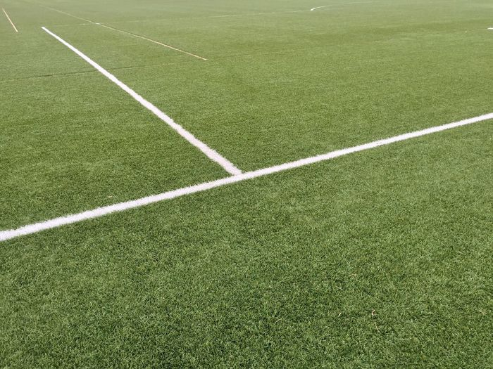 Scenic view of soccer field