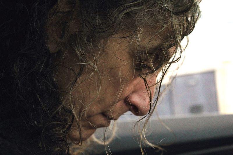 Close-Up Of Woman Messy Hair